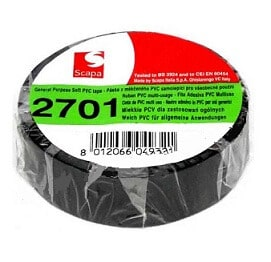 Taśma PCV czarna - czarna taśma izolacyjna PVC